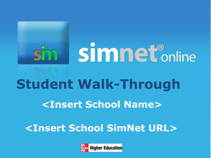 Student walk through