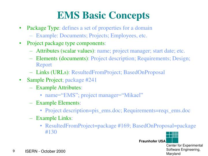 EMS Basic Concepts