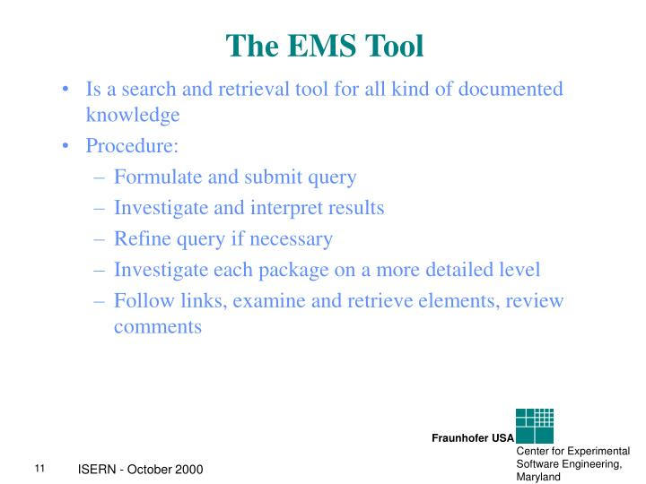 The EMS Tool
