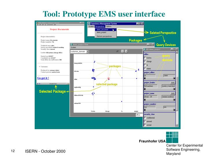 Tool: Prototype EMS user interface