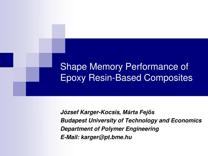 Shape Memory Performance of Epoxy Resin-Based Composites