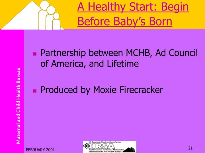 A Healthy Start: Begin Before Baby's Born