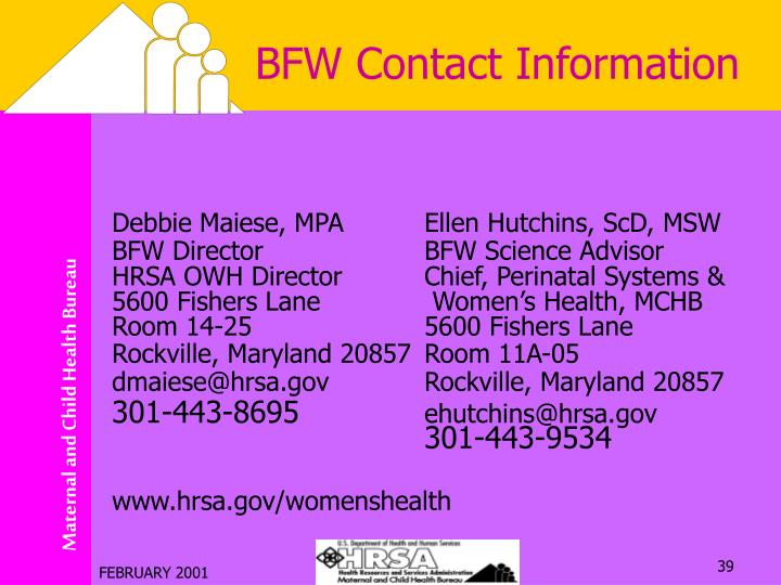 BFW Contact Information