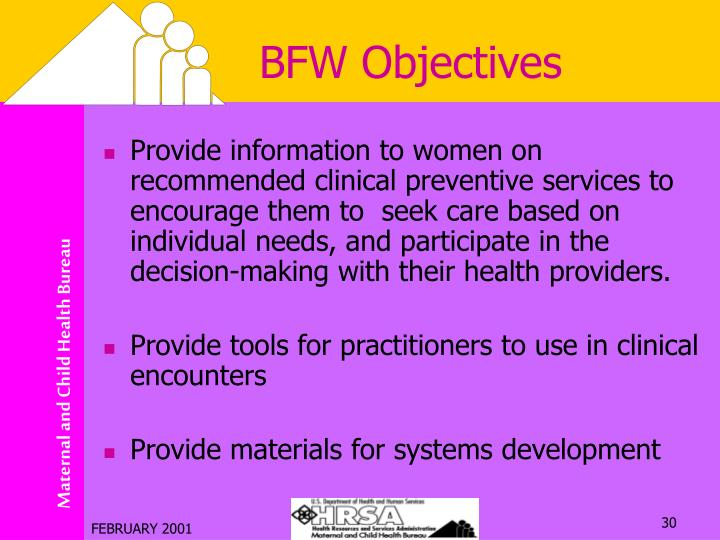 BFW Objectives