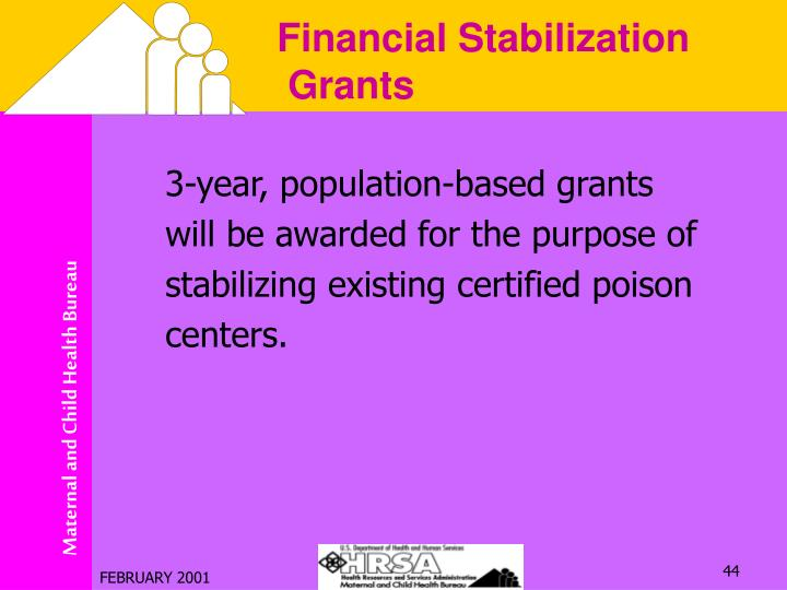 3-year, population-based grants