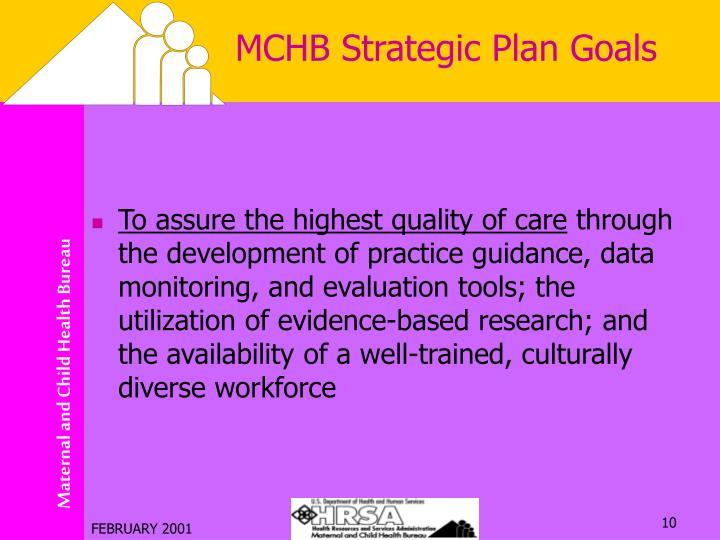 MCHB Strategic Plan Goals