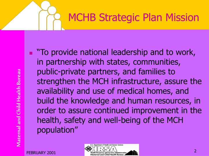 MCHB Strategic Plan Mission