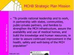 mchb strategic plan mission