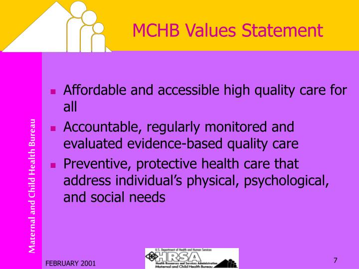 MCHB Values Statement