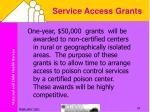 service access grants