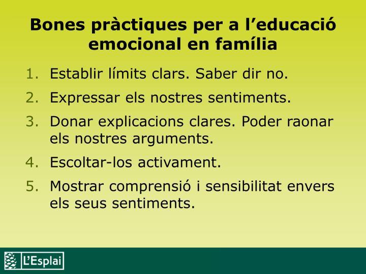 Bones pràctiques per a l'educació emocional en família