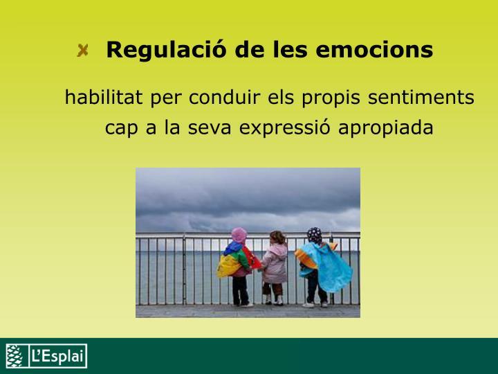 Regulació de les emocions