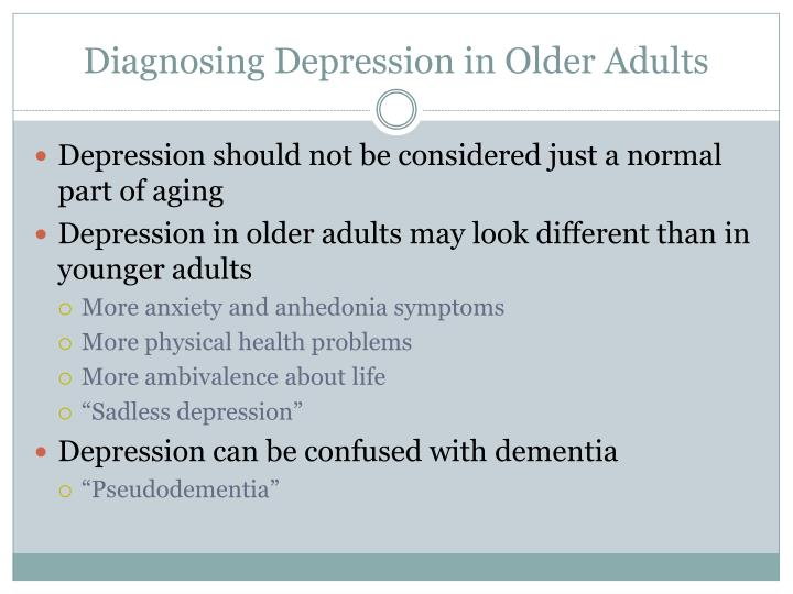 Diagnosing Depression in Older Adults