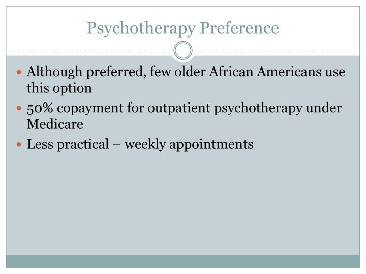 Psychotherapy Preference