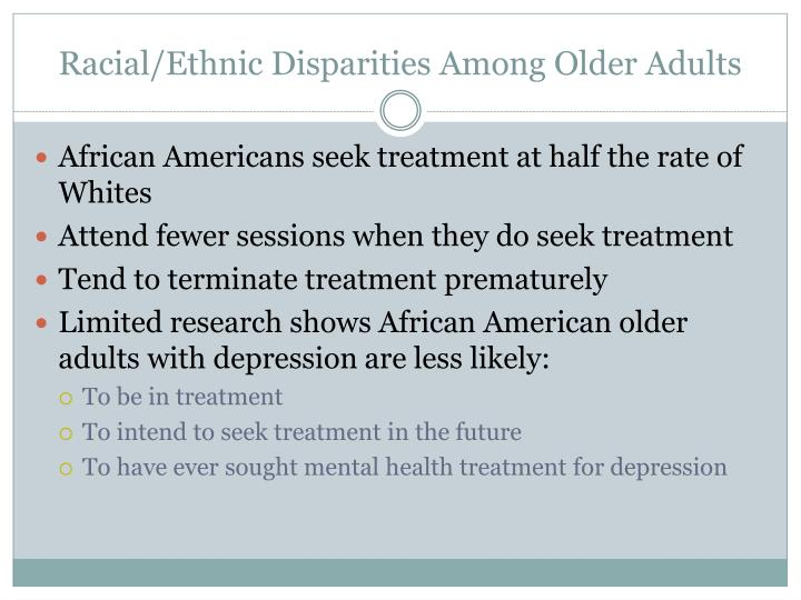 Racial/Ethnic Disparities Among Older Adults