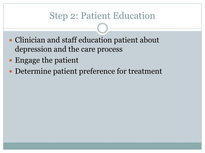 Step 2: Patient Education