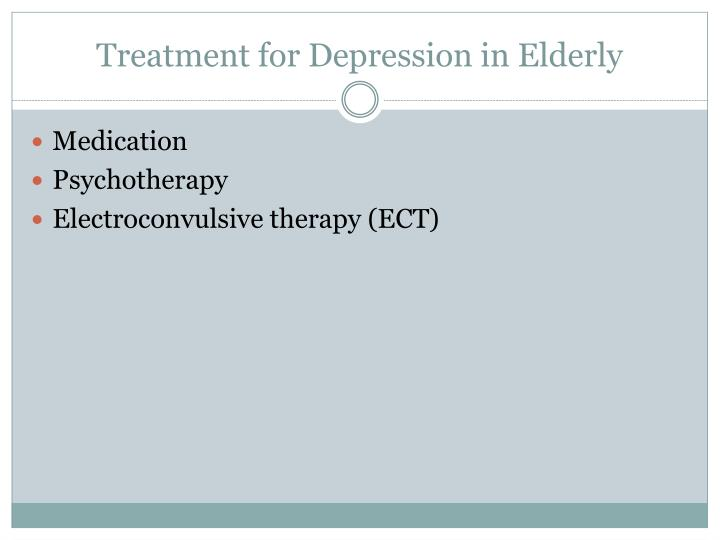 Treatment for Depression in Elderly