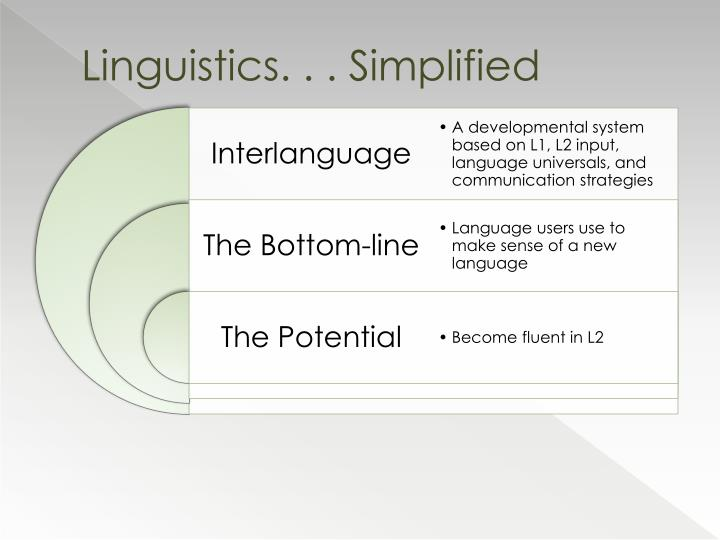 Linguistics. . . Simplified