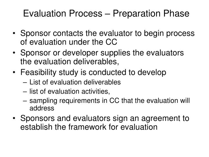 Evaluation Process – Preparation Phase