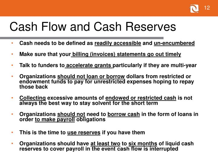Cash Flow and Cash Reserves