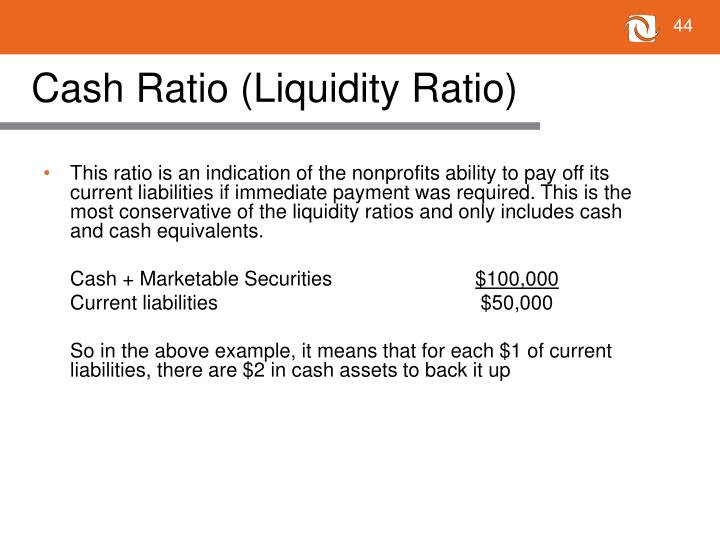 Cash Ratio (Liquidity Ratio)