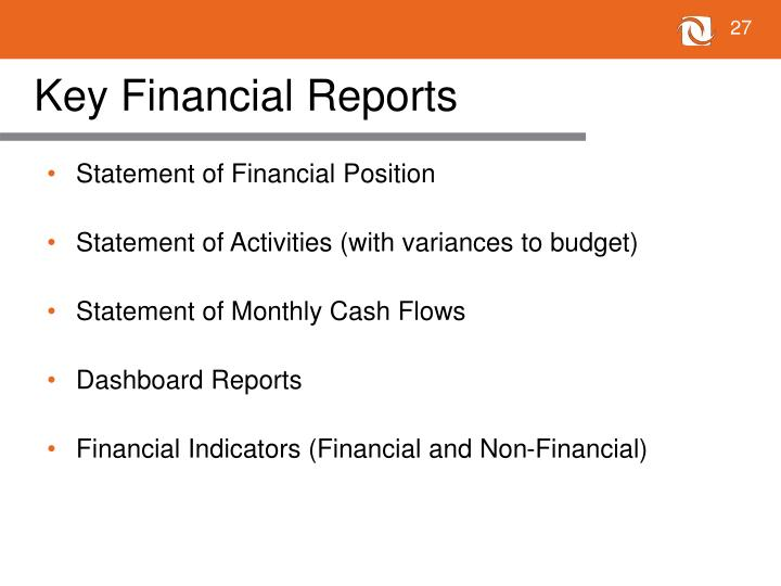 Key Financial Reports