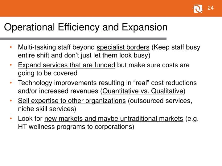 Operational Efficiency and Expansion