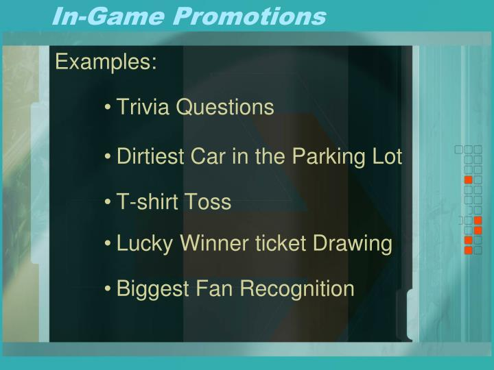 In-Game Promotions