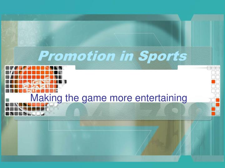 Promotion in sports