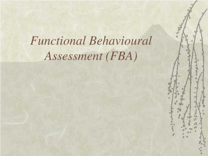 Functional behavioural assessment fba