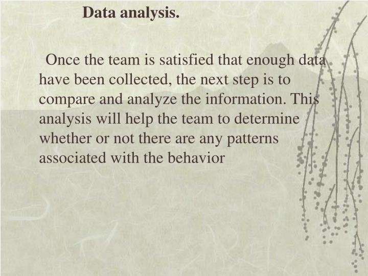 Data analysis.