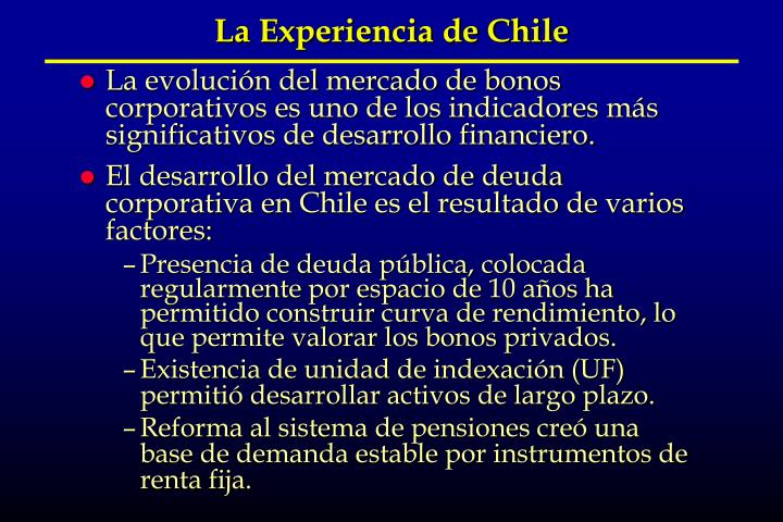 La Experiencia de Chile