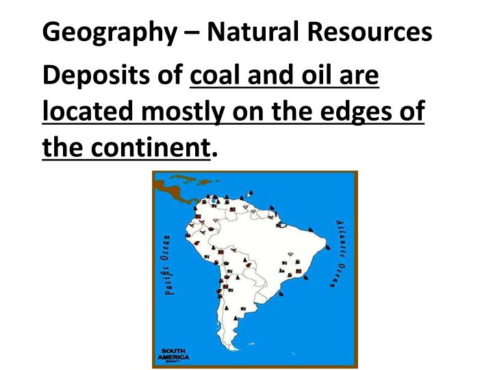 Geography – Natural Resources