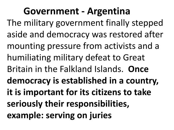 Government - Argentina