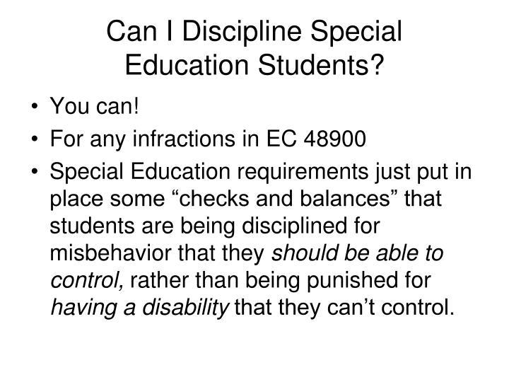 Can I Discipline Special