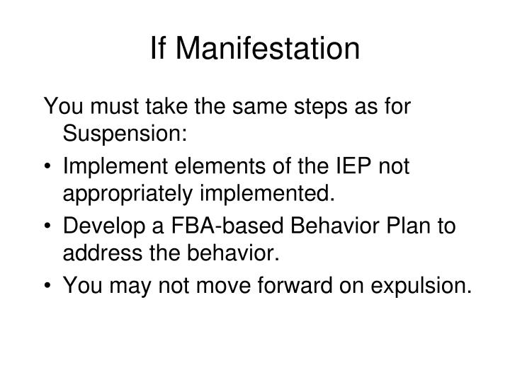 If Manifestation