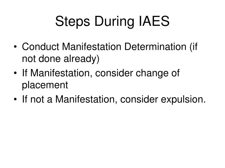 Steps During IAES