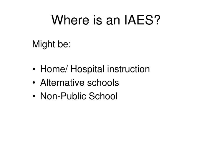 Where is an IAES?