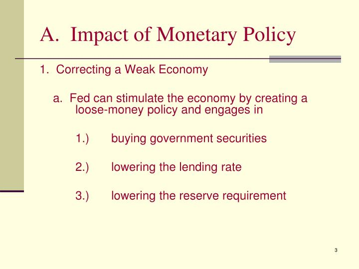 A.  Impact of Monetary Policy