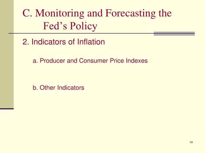 C. Monitoring and Forecasting the Fed's Policy