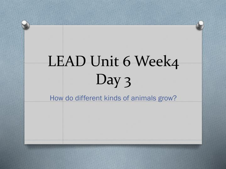 LEAD Unit 6 Week4