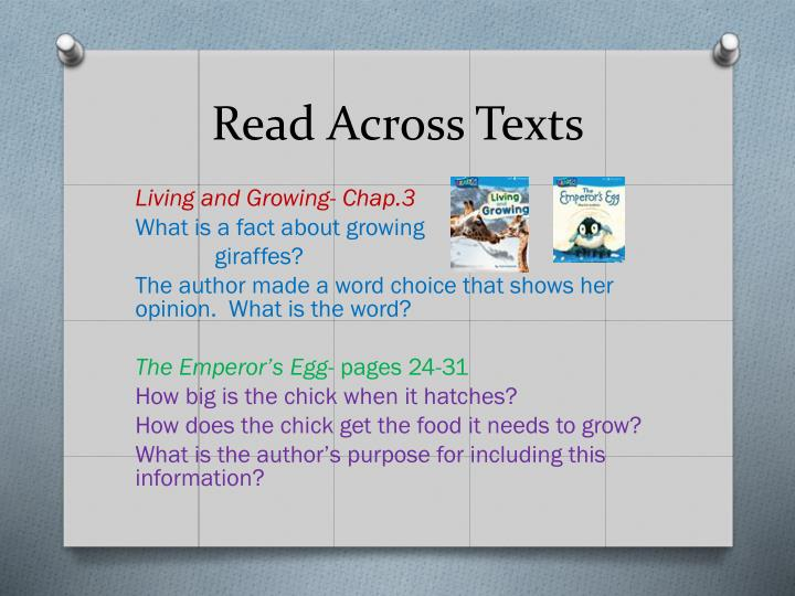 Read Across Texts