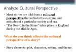 analyze cultural perspective