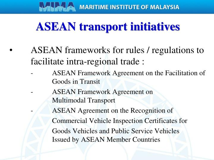 ASEAN transport initiatives