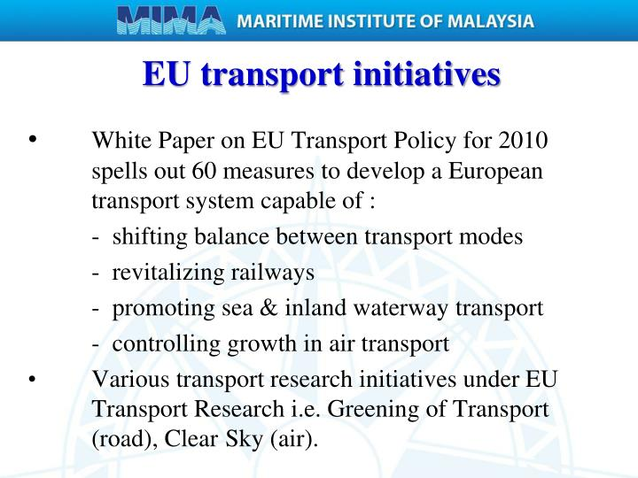 EU transport initiatives
