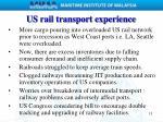 us rail transport experience