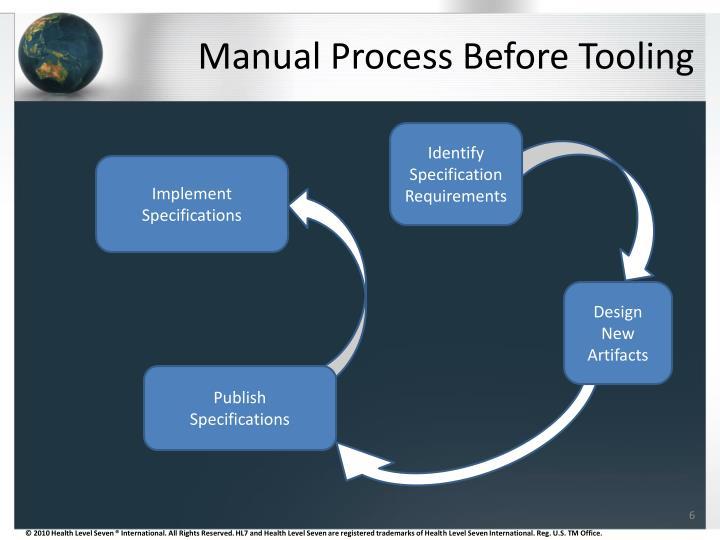Manual Process Before Tooling
