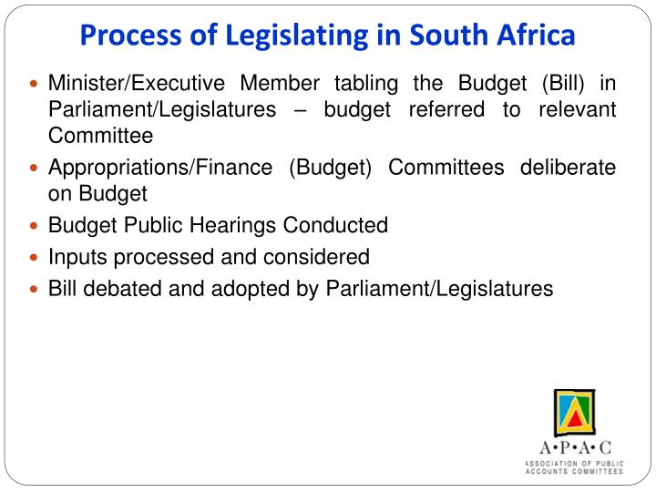 Process of Legislating in South Africa