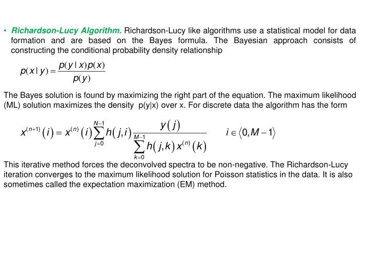Richardson-Lucy Algorithm.