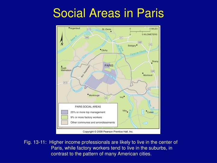Social Areas in Paris